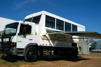 One of our spacious overland trucks, South Africa