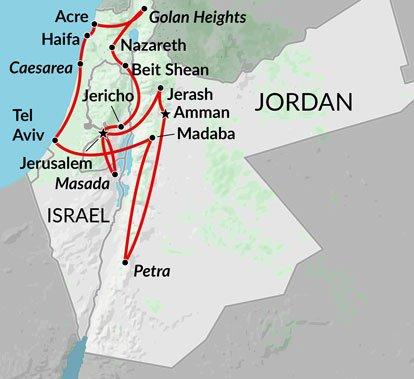 Israel tours group holidays in israel holy land jerusalem tel best israel jordan map thmbg gumiabroncs Choice Image