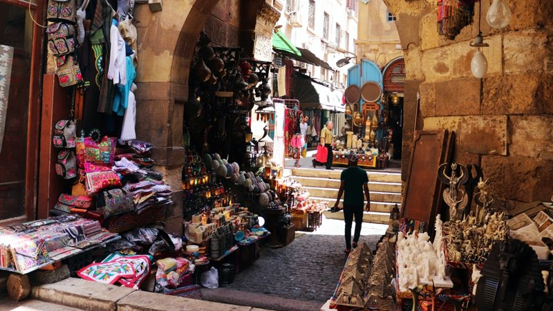 Bazaar in Cairo, Egypt