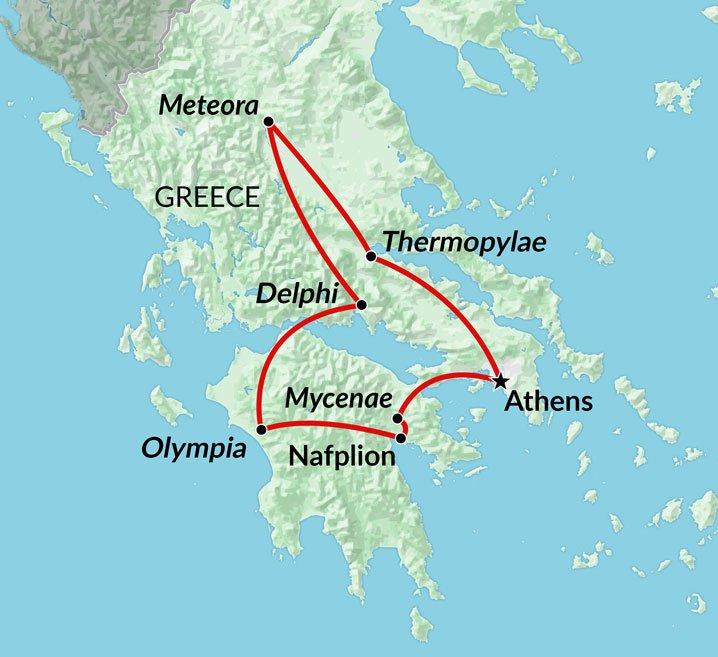 Classic Greece Tour Athens To Olympia Delphi And Meteora