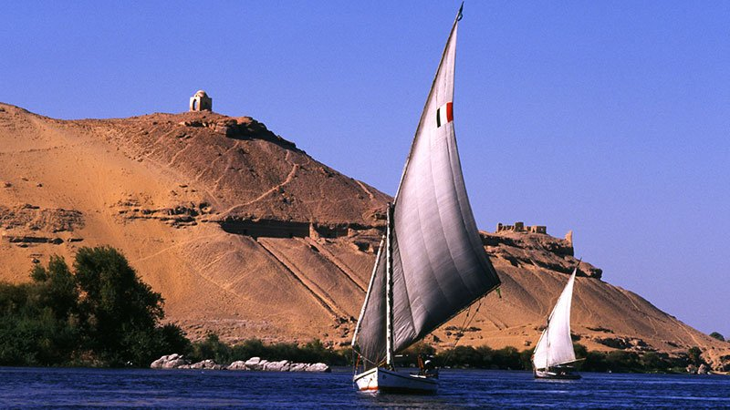 Feluccas on the Nile, Egypt