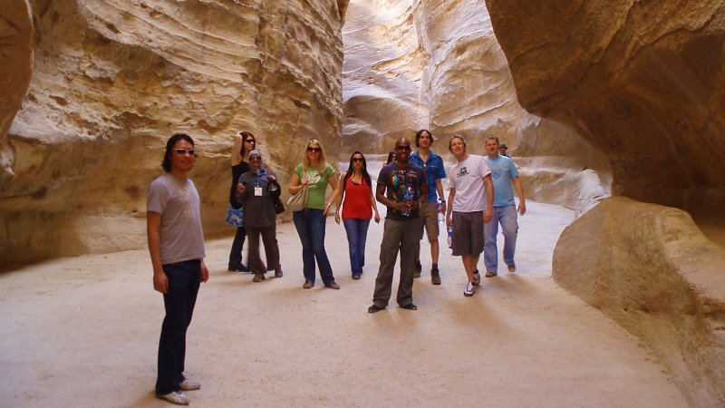 Group at Petra, Jordan