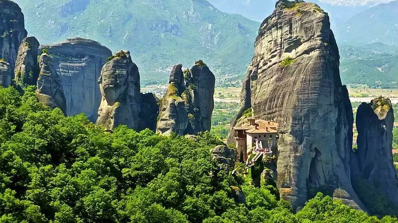 Meteora rock formation, Greece