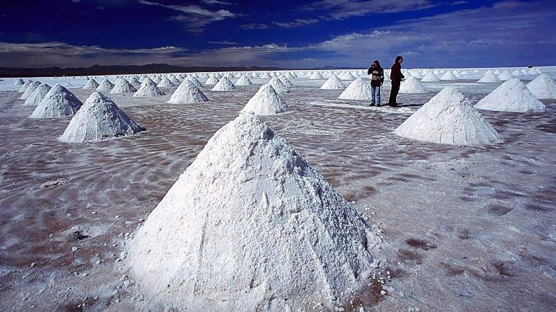 Mounds of salt, Uyuni, Bolivia