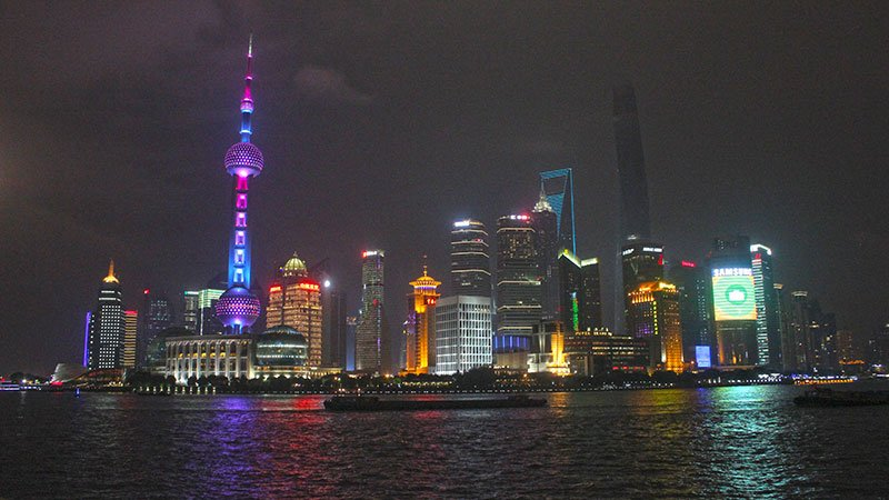 Shanghai by night, China