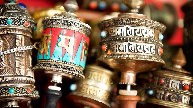 Prayer wheels, Bhaktapur, Nepal