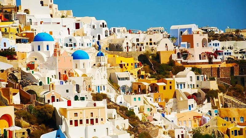 Santorini, white buildings