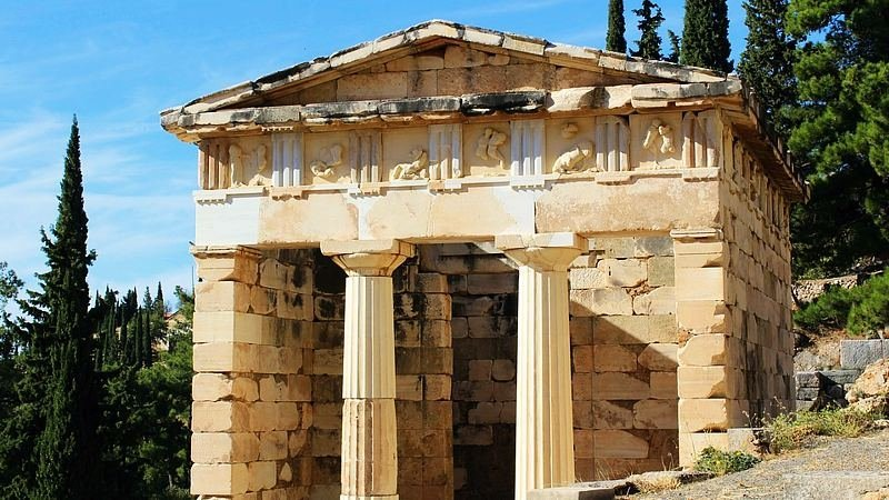 The Treasury of the Delphi, Athens, Greece