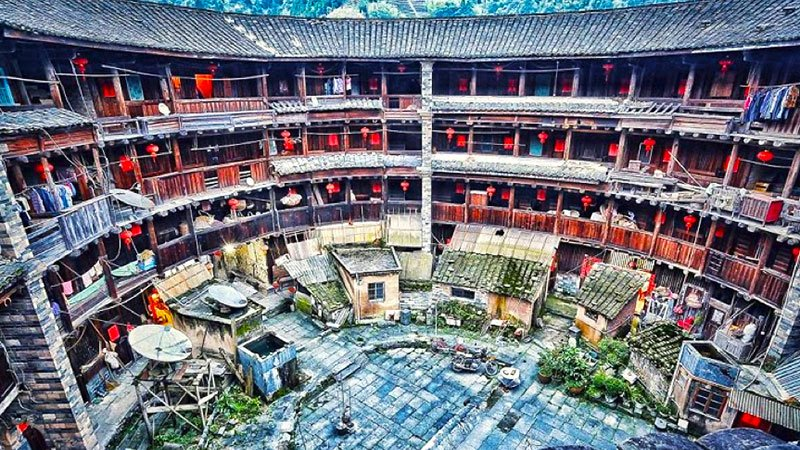 Traditional Tulou, Fujian, China