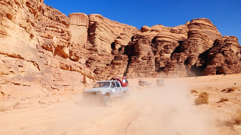 Wadi Rum jeep ride, Jordan