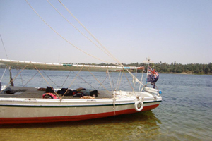 Felucca sailboat at Aswan, Egypt